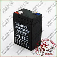 Аккумулятор свинцово-кислотный WIMPEX 6v 5a (GD-645)