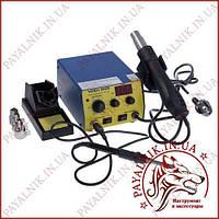 Паяльная станция YIHUA 902D 2в1 (паяльник + компрессорный фен), 1 дисплей (13-0108)