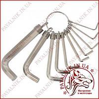 Набор ключей шестигранных Grad 10 штук (4022635)