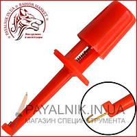 Щуп-зажим типа крючок, малый, красный (12-2983RD)