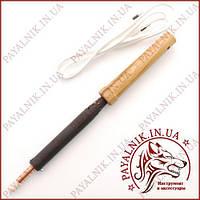 Заводской паяльник 100 вт (220V 100W деревянная ручка, жало 8мм)