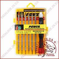 Набор отверток Power 9128 (12 бит, кейс)