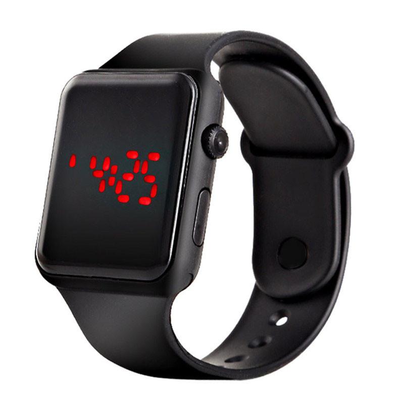 Часы наручные электронные Черные 9652, КОД: 111800
