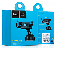 Холдер Hoco CPH17 Semi-automatic suction pad Mobile Holder Blue, фото 2