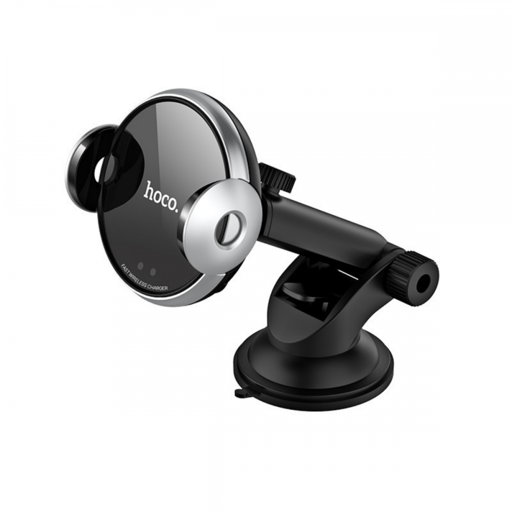 Холдер Hoco CA48 automatic induction wireless charging in-car holder Black & Silver