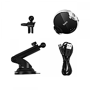 Холдер Hoco CA48 automatic induction wireless charging in-car holder Black & Silver, фото 3
