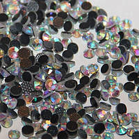 Стразы кристал ДМС ss16 Crystal AB(3,8-4мм)горячей фиксации. 500шт.