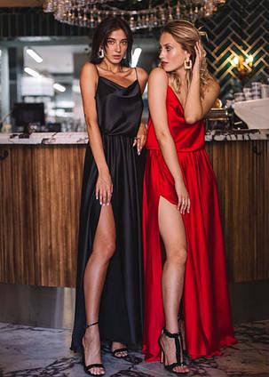 """Вечернее длинное женское платье 624 Армани Макси Разрез"""" в расцветках"""
