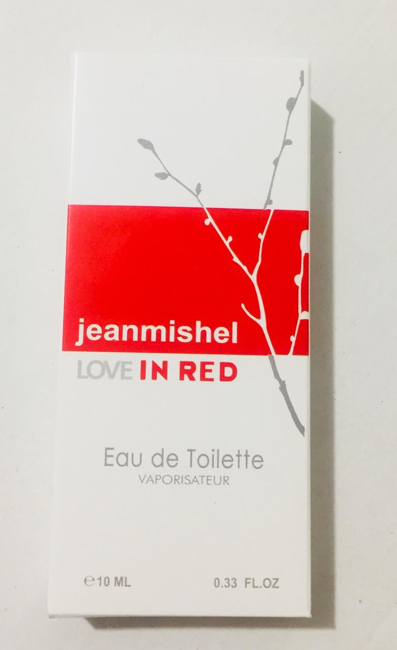 Минипарфюм jeanmishel love in red  10 мл