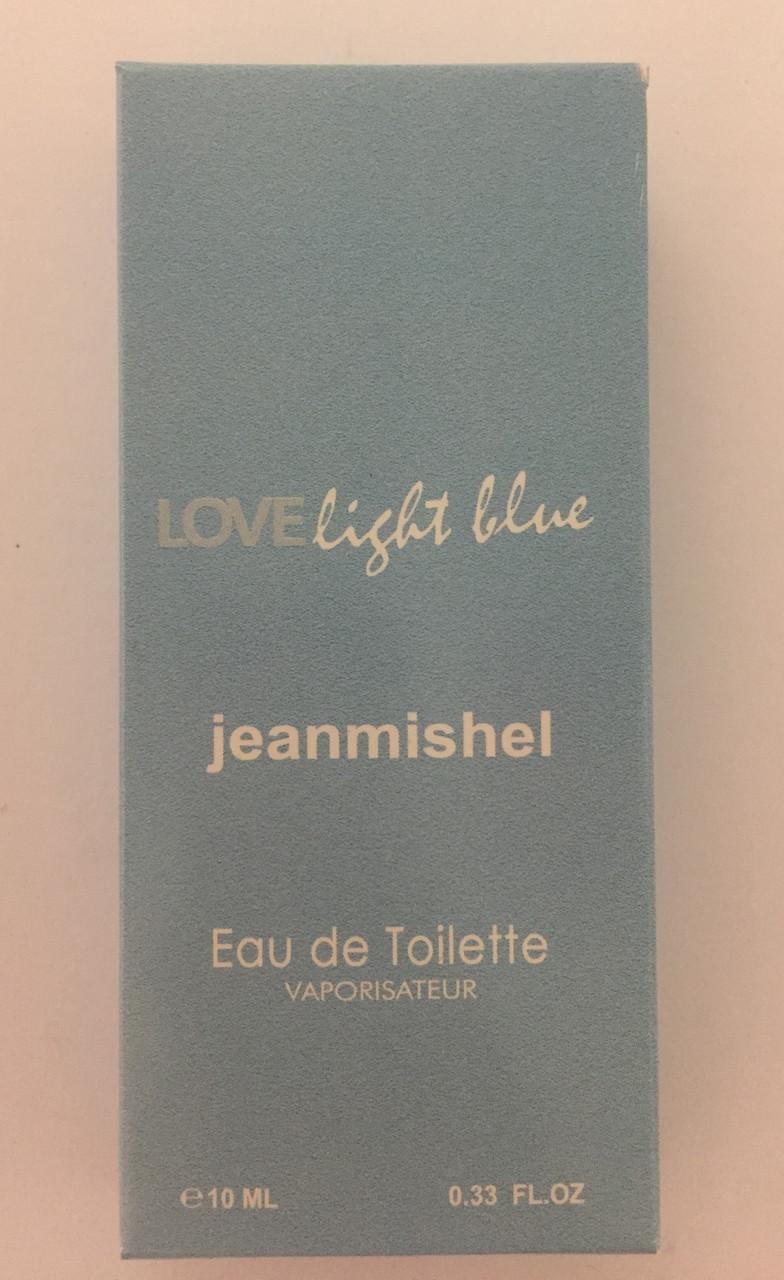 Минипарфюм женский jeanmishel loveLigt Blue 10 мл