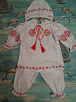 Костюм вышиваночка крестильный для девочки- 68 см