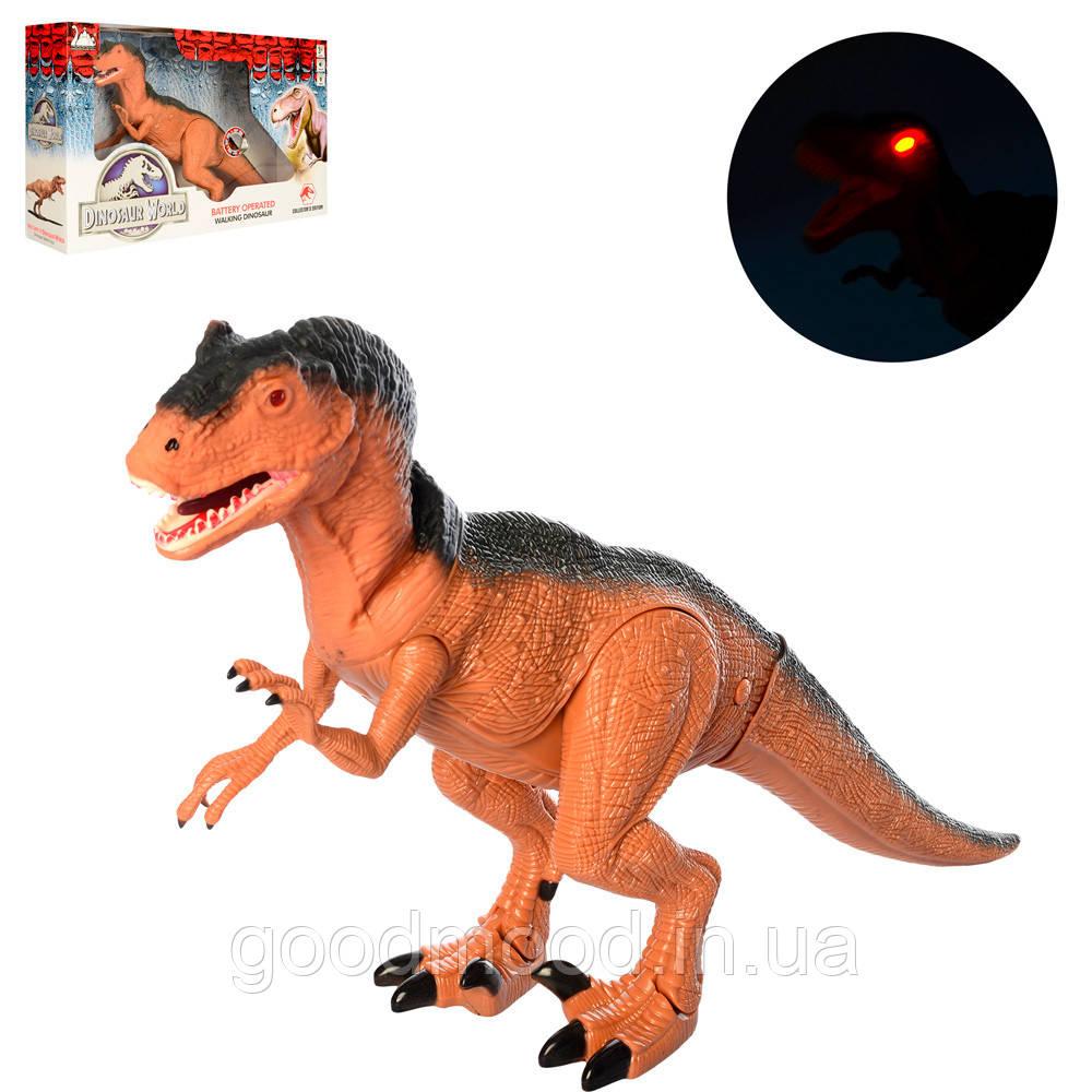 Динозавр RS6162 50см, звук, світло,ходить, подвиж.деталі, на бат-ке, в кор-ке, 51-30,5-12см