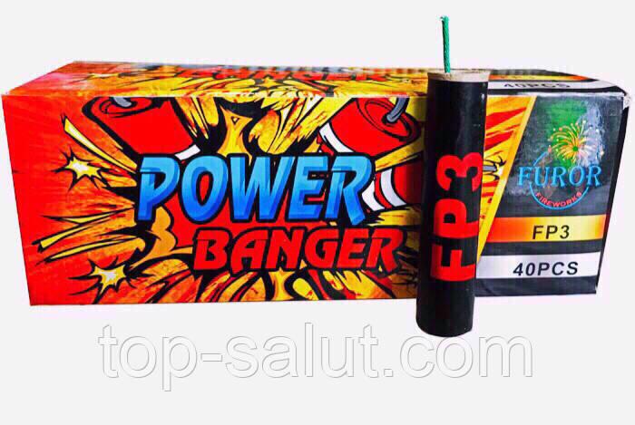 Петарды POWER BANGER Р3000 в упаковке 40 штук