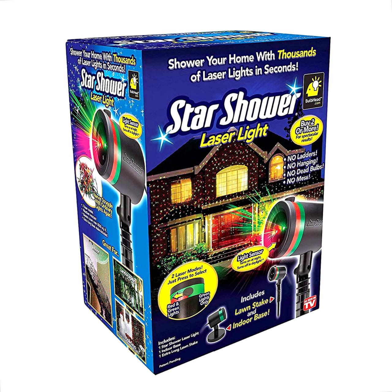 Лазерный проектор наружный Влагозащищенный лазер Шоу Star Shower