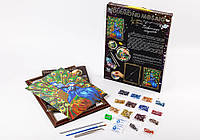Набор для творчества Danko Toys Diamond Art Алмазная живопись Павлины Разноцветный KUGFYURDU, КОД: 916415