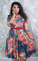 Летние женские платья-баталы (52-54)