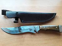 Нож охотничий Волчий Клык (Ручная работа),мощный и надежный, кожаный чехол в комплекте