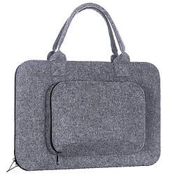 Сумка Gmakin универсальная для Macbook Air Pro 13.3 Grey, КОД: 396951