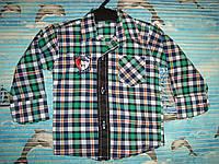 Рубашка для мальчика 1-2год.дл. рукава от плеча-28см.дл.рубашки по спинке-38см.