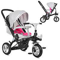 Детский велосипед Turbo Trike MAL003645A Розовый с серебристым 23-SAN409, КОД: 318643