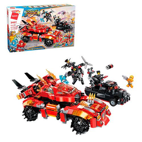 Конструктор детский Qman 3407 Транспорт, 1134 детали