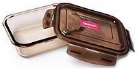 Контейнер для продуктов Fisman Luxor 1040 мл стеклянный 19х14х6 см Прозрачный   Коричневый psgFN-, КОД: 1132692