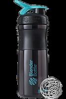 Спортивная бутылка-шейкер BlenderBottle SportMixer 820ml Black/Teal (ORIGINAL), фото 1