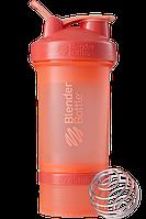 Шейкер спортивний BlenderBottle ProStak 650ml з 2-ма контейнерами Coral (ORIGINAL), фото 1