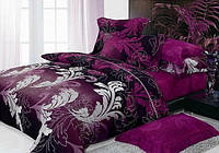 Комплект постельного белья Вилюта 9949 полуторный Малиново-черный hubFjzN32075, КОД: 1345987