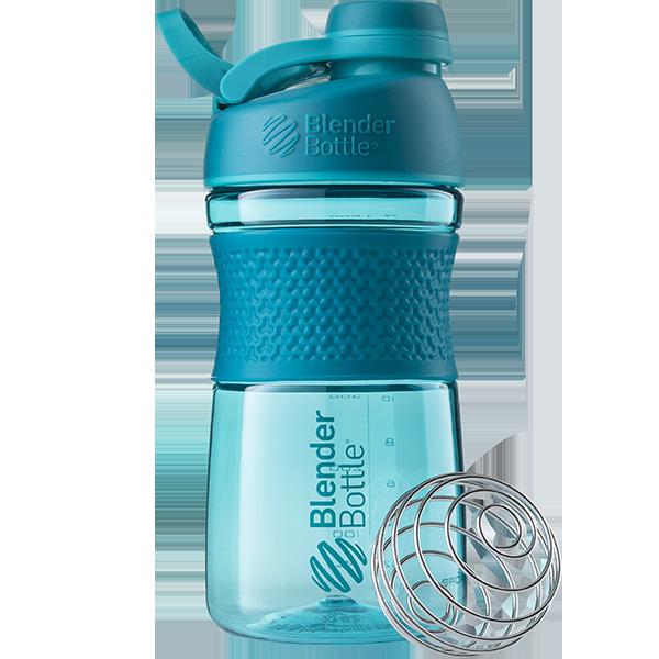 Спортивная бутылка-шейкер BlenderBottle SportMixer Twist 590ml Teal (ORIGINAL)