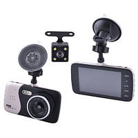 Автомобильный видеорегистратор AKLINE DVR X 600 с двумя камерами 1080P Full HD металл Черный (KD-5477S686)