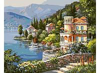 Картина по номерам Белоснежка Вилла на берегу озера 40х50 см RN 399, КОД: 1061257