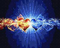Картина по номерам Brushme Стихия сердец 40х50 см GX30107, КОД: 1317720