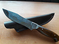 Нож охотничий Корсар (Ручная работа), мощный и надежный, кожаный чехол в комплекте