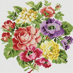 Алмазная вышивка мозаика Белоснежка Вальс цветов 30 х 30 RN 164, КОД: 395367