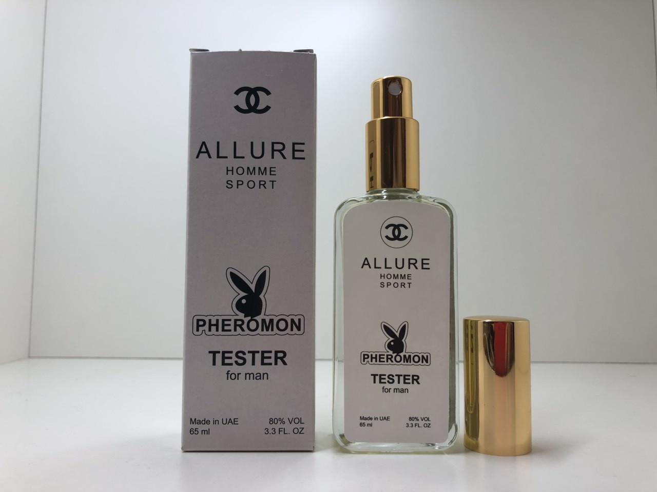 Мужские духи Chanel Allure Homme Sport  тестер 65 ml с феромонами (реплика)