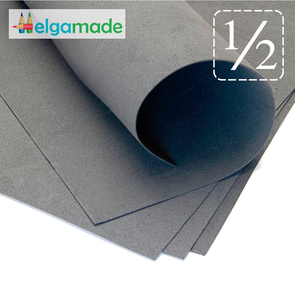 Фоамиран МОКРЫЙ АСФАЛЬТ, 1/2 листа, 30x70 см, 0.8-1.2 мм, Иран