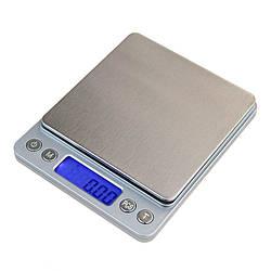 Ювелирные электронные весы с 2-мя чашами 0.01 - 500 гр Серый 1em000594, КОД: 897845