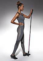 Женский костюм для фитнеса Bas Bleu Flint M Серый с черным bb0154, КОД: 951446