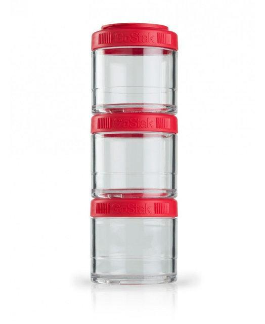 Контейнер спортивный BlenderBottle GoStak 3 Pak Red (ORIGINAL)