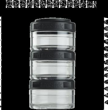 Контейнер спортивный BlenderBottle GoStak 3*60 Black (ORIGINAL)