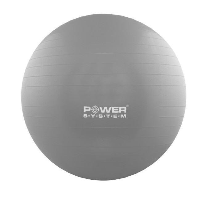 Мяч для фитнеса и гимнастики POWER SYSTEM PS-4012 65 cm Grey