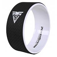 Йога колесо для фитнеса и аэробики Power System Yoga Wheel Pro PS-4085 Black/White