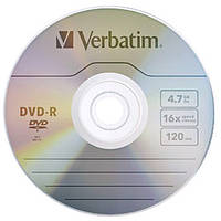 Диск Verbatim DVD + R (4.7GB, 16x, cake 50pcs, WidePrintable 43512) по1шт