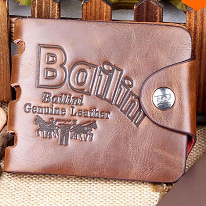 Кожаный мужской кошелек Bailini. Разные модели