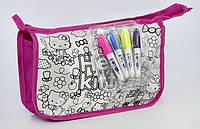 Набор для творчества Сумка-раскраска JX-20282-H Hello Kitty Розовый 2-20282-69221-1, КОД: 969257