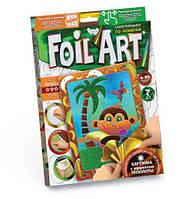 Аппликация разноцветной фольгой Dankotoys FOIL ART Обезъянка TOY-38602, КОД: 1323534