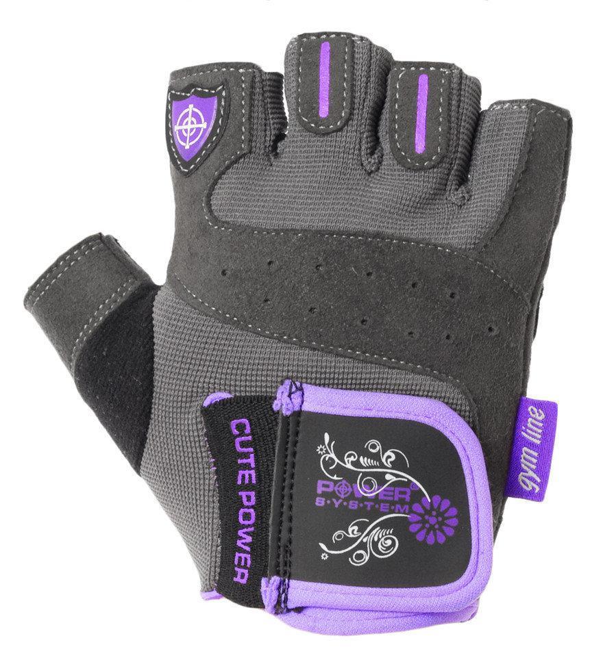 Перчатки для фитнеса и тяжелой атлетики Power System Cute Power PS-2560 женские Purple XL