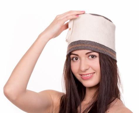"""Банная шапка Luxyart """"Феска"""", натуральный войлок, белый (LA-076)"""