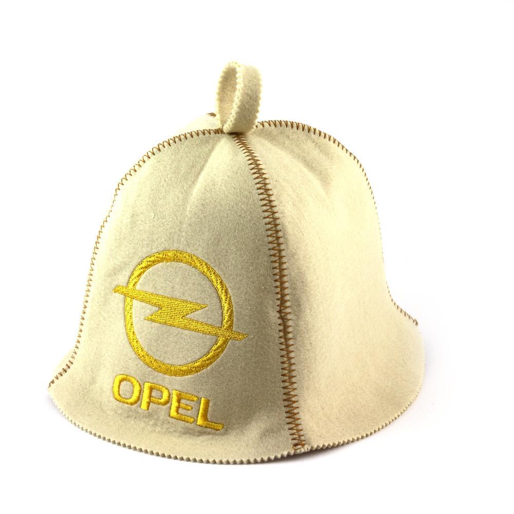 "Банная шапка Luxyart ""Opel"", искусственный фетр, белый (LA-321)"